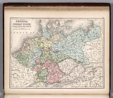 Map No. XXXII. Prussia the German States, Holland & Belgium