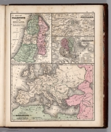 Map No. 53. Map of Palestine. 54. Vicinity of the city of Jerusalem. 55. Ancient city of Jerusalem. 56. Map of the incursions of the Barbarians