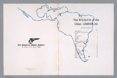 Title Page/Contents: The Wealth of the Other Americas. Pan American World Airways