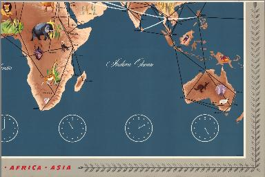 (Sheet 4) Trans World Airlines. TWA World Routes. U.S.A. • Europe • Africa • Asia.
