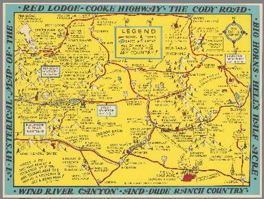A Hysterical map of the Red Lodge - Cooke Highway ...