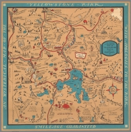 The famous hysterical map of Yellowstone park