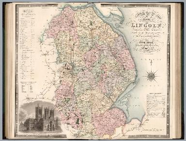 Map of the county of Lincoln