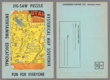 covers: Jig-saw puzzle hysterical map souvenir entertaining educational fun for everyone