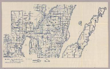 Section 3. Bicycle Road Map of Wisconsin.