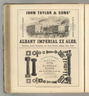John Taylor & Sons' Albany Imperial XX Ales, Albany, New York (beer); Hoopes & Townsend