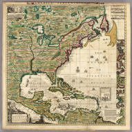 America Septentrionalis A Map of the British Empire in America.