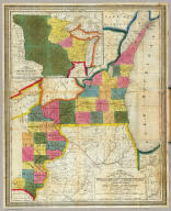 (Text Page in) Traveller's & Emigrant's Guide to Wisconsin & Iowa. By Henry I. Abel. Accompanied With A New and Improved Map of those Territories. With The Addition of Parts of Illinois, Indiana, and Michigan.