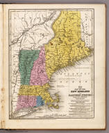 Map of the New England or Eastern States.