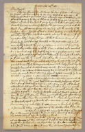 (Page 1 of) Letter from Sidney E. Morse to his parents dated November 14, 1821.