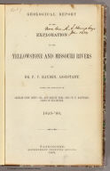 Title Page: Geological report of the Exploration of the Yellowstone and Missouri Rivers.