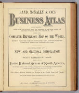 (Index Page to) Rand, McNally & Co.'s Business Atlas Containing Large Scale Maps of Each State and Territory of the United States, The Provinces Of Canada, West India Islands, Etc., Etc. Together with a Complete Reference Map of the World ... Accompanied by a New and Original Compilation and Ready Reference Index, Showing in Detail the Entire Railroad System of North America ... Chicago: Rand, McNally & Co., Printers, Engravers And Publishers. 1878-9. (on verso) Entered ... 1878, by Rand, McNally & Co. ... Washington, D.C.