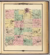 Map of Jefferson County, State of Wisconsin. Copyright 1877, by Snyder, Van Vechten & Co. (Compiled and published by Snyder, Van Vechten & Co., Milwaukee. 1878), Historical atlas of Wisconsin embracing complete state and county maps, city & village plats, together with separate state and county histories; also special articles on the geology, education, agriculture, and other important interests of the state. Illustrated. Compiled and published by Snyder, Van Vechten & Co., Milwaukee. 1878. (on verso of title page) Entered ... 1878, by Snyder, Van Vechten & Co. ... Washington., Map of Jefferson County, State of Wisconsin.