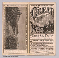 (Text Page to) Great Western Railway. Via Niagara Falls Suspension Bridge or Buffalo to the West! Great central route.-Aug. 15, 1881 ... Commercial Advertiser Print, Buffalo, N.Y.