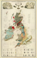 Composite: Geological, palaeontological map British Islands.
