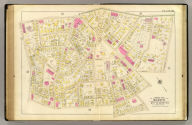 Part of ward 21, city of Boston. (1895), Atlas of the city of Boston, Boston proper and Roxbury. From actual surveys and official plans by George W. and Walter S. Bromley, civil engineers. G.W. Bromley and Co., 222 S. Fifth St., Philadelphia. 1895. Entered according to Act of Congress in 1895 by G.W. Bromley & Co. in the office of the Librarian of Congress at Washington, D.C., 38. Ward 21.