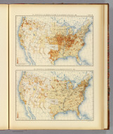 161. Proportion of the Disciples of Christ to the aggregate population: 1890. 162. Proportion of the Episcopalians to the aggregate population: 1890. Julius Bien & Co. Lith., N.Y. (1898), Statistical atlas of the United States, based upon results of the Eleventh Census (1890). By Henry Gannett. Washington: Government Printing Office. 1898. (At head of title:) Department of the Interior, Census Office. Robert P. Porter, Superintendent ... Carroll D. Wright, Commissioner of Labor in Charge ... (seal) Department of the Interior., 39. Disciples of Christ, Episcopalians 1890.