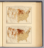 1. Density of Scandinavians: 1900. 2. Proportion of Scandinavians to total population: 1900. (Prepared under the supervision of Henry Gannett, Geographer of the Twelfth Census. United States Census Office, 1903). Julius Bien & Co., N.Y., Twelfth census of the United States, taken in the year 1900. William R. Merriam, Director. Statistical atlas. Prepared under the supervision of Henry Gannett, Geographer of the Twelfth Census. Washington: United States Census Office. 1903., 69. Scandinavians 1900.