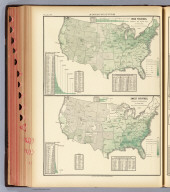 Orchard products. Total value, per square mile of total area ... Rice. Product per square mile of total area. Based on the returns of the tenth census. 1880. Copyright, 1883, by Charles Scribner's Sons.