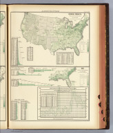 Hops. Product, per square mile of total area. Based on the returns of the tenth census. 1880. Copyright, 1883, by Charles Scribner's Sons.