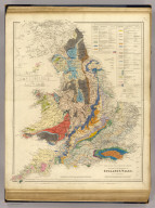 Inland navigation, rail roads, geology, minerals of England & Wales.
