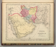 Persia, Arabia, &c. 71. Entered according to Act of Congress in the year 1856 by Charles Desilver in the Clerk's office if the District Court of the Eastern District of Pennsylvania., A New Universal Atlas Containing Maps of the various Empires, Kingdoms, States and Republics Of The World. With a special map of each of the United States, Plans of Cities &c. Comprehended in eighty one sheets and forming a series of One Hundred And Forty Five Maps, Plans And Sections ... Baltimore, Cushings & Bailey, 262 Market Street. 1859. Entered ... 1856, by Charles Desilver ... Pennsylvania. (title page by) Barralet del. Humphreys, sc. J. Knight Sc., Persia, Arabia, &c.
