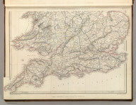 Sharpe's Corresponding Maps. England and Wales Railway Map (southern half). Engraved by J. Wilson Lowry. London - Published by Chapman and Hall, 186 Strand, 1847. Enlarged Series., Sharpe's Corresponding Atlas, Comprising Fifty-Four Maps, Constructed Upon A System Of Scale And Proportion, From the most Recent Authorities. Engraved On Steel By Joseph Wilson Lowry. With A Copious Consulting Index. London: Chapman And Hall, 186 Strand. MDCCCXLIX., England and Wales Railway Map (southern half).