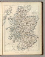 Sharpe's Corresponding Maps. Scotland. London - Published by Chapman and Hall, 186 Strand, 1847. Enlarged Series., Sharpe's Corresponding Atlas, Comprising Fifty-Four Maps, Constructed Upon A System Of Scale And Proportion, From the most Recent Authorities. Engraved On Steel By Joseph Wilson Lowry. With A Copious Consulting Index. London: Chapman And Hall, 186 Strand. MDCCCXLIX., Scotland.