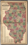 Sectional Map of Illinois ... 1872.