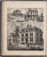 View: Residences of Frederick J. Reinecker, J. H. McGindley, J.W. Koch, Adams County, Illinois.