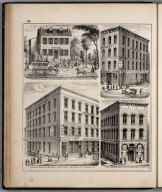 View: Businesses of Peter Oehmen, Wm. H. Gage. Wells & Castle, Adams County, Illinois.