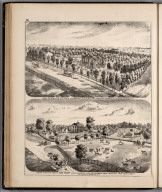 View: Residences of T.M. Rogers, John Sharp, Adams County, Illinois.