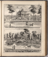 View: Residences of Wm. H. Cather, Samuel Farlow, Adams County, Illinois.