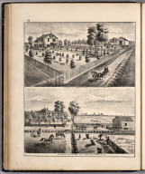 View: Residences of Erastus Rice, V.P. Gay, Adams County, Illinois.