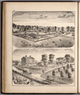 View: Residences of Joseph Fletcher, Sarah A. Francis, Adams County, Illinois.