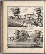 View: Residences of Joseph Elliott, George Hewes, Adams County, Illinois.