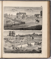 View: Farm Residences of Andrew Hendricks, John W. Vickers, Adams County, Illinois.