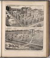 View: Residences of A. Scarborough, D.C. Benton, Adams County, Illinois.