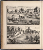 View: Farm Residences of Obediah Waddell, Jacob Wagner, Adams County, Illinois.
