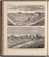 View: Farms of Noah Stahl, John Lummis, Adams County, Illinois.