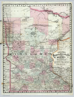 Rail Road and Township Map Of Minnesota