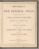 Title Page: Mitchell's New General Atlas