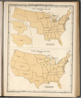 Plate 63. States, Territories and Cities, 1840 - 1850.