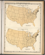 Plate 66. States, Territories and Cities, 1910 - 1920.