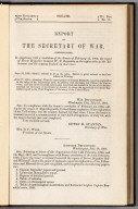Title Page: Report of the Secretary of War ... Exploration of the Yellowstone