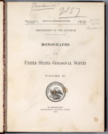 Title Page: Monographs of the United States Geological Survey, vol. 11
