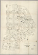 San Francisco. Plan of Proposed Steet Changes in the Burned District and Other Sections.
