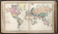 The World of Mercator Projection., The Family Atlas Containing Eighty Maps, Constructed By Eminent Geographers, And Engraved On Steel, Under The Superintendence Of The Society For The Diffusion Of Useful Knowledge, Including The Geological Map Of England And Wales, By Sir I. Murchison, F.R.S., The Star Maps By Sir John Lubbock, Bart. And The Plans Of London And Paris, With The New Discoveries And Other Improvements To The Latest Date. And An Alphabetical Index. London: Edward Stanford, 6, Charing Cross. 1865.