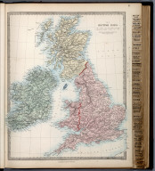 The British Isles., The Family Atlas Containing Eighty Maps, Constructed By Eminent Geographers, And Engraved On Steel, Under The Superintendence Of The Society For The Diffusion Of Useful Knowledge, Including The Geological Map Of England And Wales, By Sir I. Murchison, F.R.S., The Star Maps By Sir John Lubbock, Bart. And The Plans Of London And Paris, With The New Discoveries And Other Improvements To The Latest Date. And An Alphabetical Index. London: Edward Stanford, 6, Charing Cross. 1865.