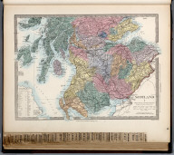 Scotland I., The Family Atlas Containing Eighty Maps, Constructed By Eminent Geographers, And Engraved On Steel, Under The Superintendence Of The Society For The Diffusion Of Useful Knowledge, Including The Geological Map Of England And Wales, By Sir I. Murchison, F.R.S., The Star Maps By Sir John Lubbock, Bart. And The Plans Of London And Paris, With The New Discoveries And Other Improvements To The Latest Date. And An Alphabetical Index. London: Edward Stanford, 6, Charing Cross. 1865.